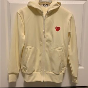 Comme des Garçons ivory hoodie